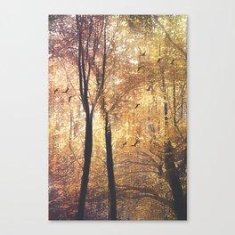 Flight Through Golden Grove Canvas Print