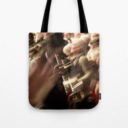 Jazz musician trumpet player Tote Bag