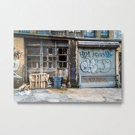 Back-Alley Metal Print