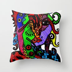 Lizard Princess Throw Pillow