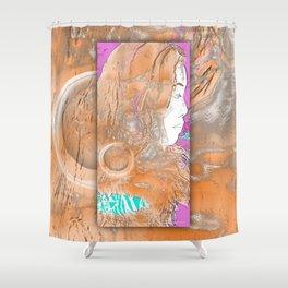 Nail Girl Shower Curtain