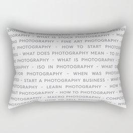 Strong Photography Keywords Marketing Concept Rectangular Pillow
