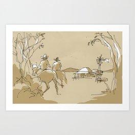 Outback Art Print