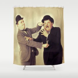 Laurel and Hardy, Hollywood Legends Shower Curtain