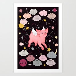 Piggy Year Art Print