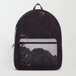 Lets Get Wild - Foggy Forest Road Nature Photography Backpack