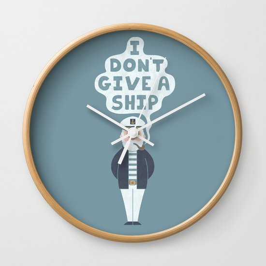 Indifferent Captain Wall Clock
