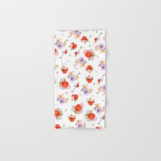 RED FLORAL Hand & Bath Towel