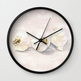 Garlic Watercolor Wall Clock