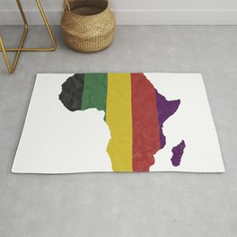 Striped Africa Map Rug