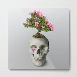 Bonsai Skull Metal Print
