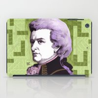 mozart iPad Cases featuring Wolfgang Amadeus Mozart by Joseph Walrave