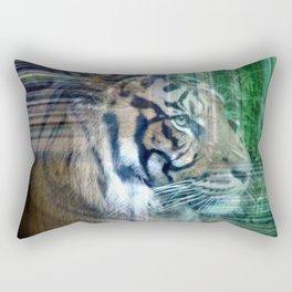 Hidden Tiger Rectangular Pillow
