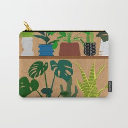 Plants on the Shelf in Warm Wood Carry-All Pouch