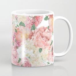 Flowers, Floral Explosion, Floral Pattern, Pink Flowers Coffee Mug