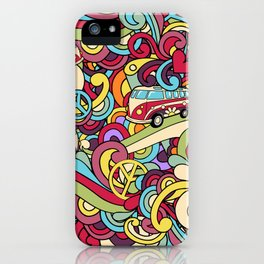 Colorful Hippie Swirl Pattern 2 iPhone Case