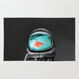 fish in astro helm Rug