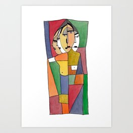 Five cousins together in a exhibition  Art Print