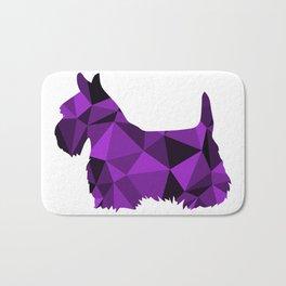 Geo Scottie - Purple Bath Mat