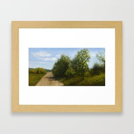 Country road in Carnation, WA Framed Art Print
