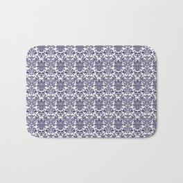 Navy China Pattern Bath Mat