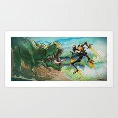 Robot & Rex Art Print