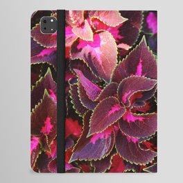 Intricate Coleus Design iPad Folio Case