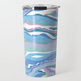 cotton candy pastel lines Travel Mug