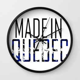 Made in Quebec Wall Clock