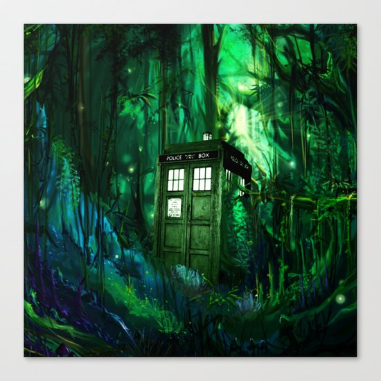 Tardis in the forest 2 Canvas Print