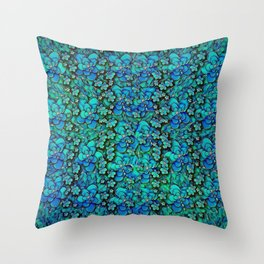 fantasy flowers in the most beautiful place in this world Throw Pillow