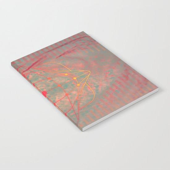 Hot pink grey purple fuchsia abstract fantasy  Notebook