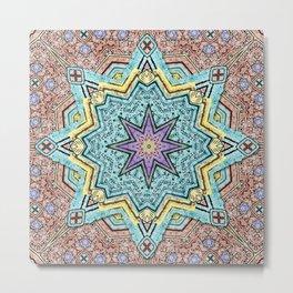Shell Star Mandala Metal Print