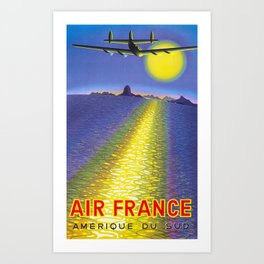 Amerique Du Sud - Vintage Air France Travel Poster Art Print