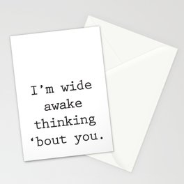 Wide Awake Print Stationery Cards
