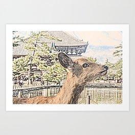 Kyoto Nara Japan ArtWork Painting Art Print