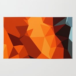 green blue brown orange and yellow abstract background Rug