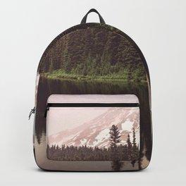 Mount Rainier Lake Adventure - Pacific Northwest Mountain Forest Wanderlust Backpack