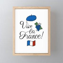 Vive la France! Framed Mini Art Print