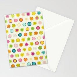 circle spot cream Stationery Cards