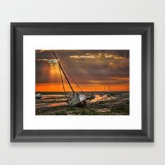 Low Tide at Heswall Framed Art Print