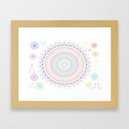 Hippi Mandala Framed Art Print