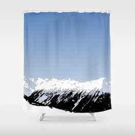 Mountains essentials - Snow and bright sky Shower Curtain