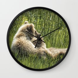 Best Friends Fur Ever - Bear Cubs, No. 8 Wall Clock