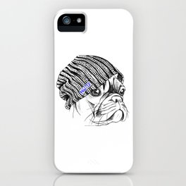 Hipster + Pug = Pugster iPhone Case