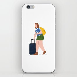 Traveling Girl iPhone Skin