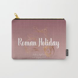 Roman holiday - Audrey Hepburn and Gregory Peck tribute to Carry-All Pouch