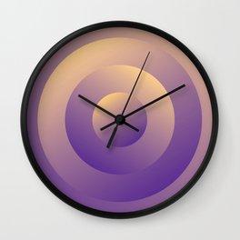 Minimal Circle pastel purple and yellow Wall Clock