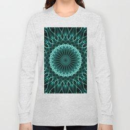Mandala in malahite tones Long Sleeve T-shirt