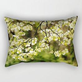 Painted Dogwoods Rectangular Pillow